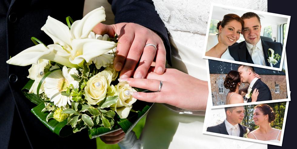 Fotocollage Hochzeit