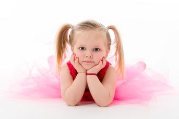 Kinderfoto Mächen mit Zöpfen