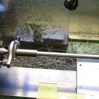 Steel blank set up for cutting
