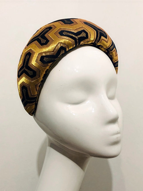 Gold and Black Wide Padded Headband