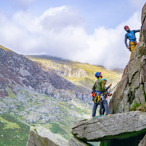 My favourite crag to learn to lead a trad rock climb...