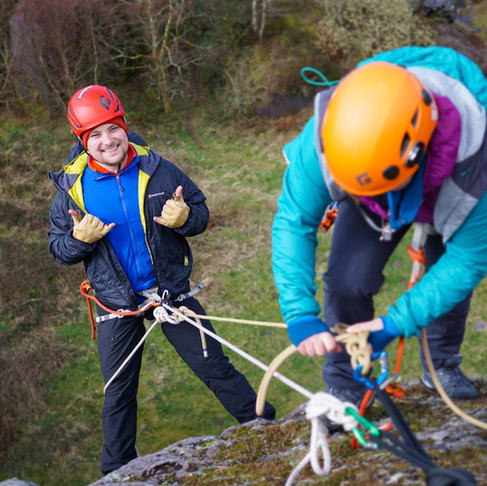 How to tie of a belay device... ATC or GriGri