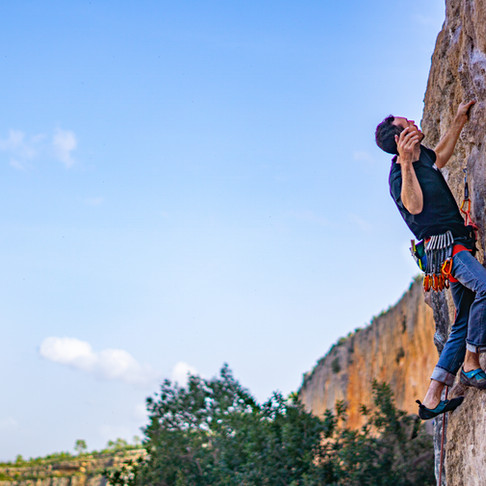 How to climb 7a, outdoors