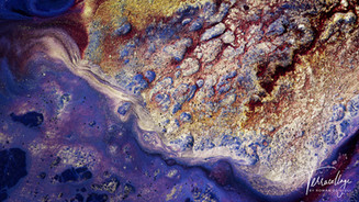 Terracollage 8K Olympic Games Geodaehan Abstract Macro Experimental Fluid Art Colors Fluids Colorful Glitter Gold Metallic Stock Footage by Roman De Giuli
