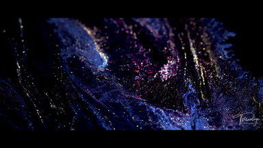 Terracollage Land of Mine vimeo staff pick 8K Stock Footage fluid paint colorful color gold silver otherworld Abstract Macro Experimental Glitter Powder Pigments Practical by Roman De Giuli