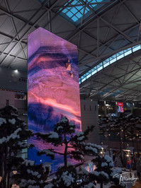 Terracollage giantstep incheon international airport seoul icn media tower led wall 8K Stock Footage fluid art paint colorful color micro microscopic ink artwork Abstract Macro glitter gold sparkling photography Experimental Practical cgi by Roman De Giuli