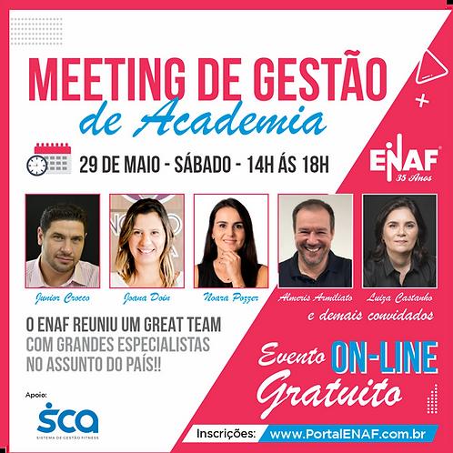 MEETING DE GESTÃO DE ACADEMIA - 29 MAIO - ONLINE GRATUITO