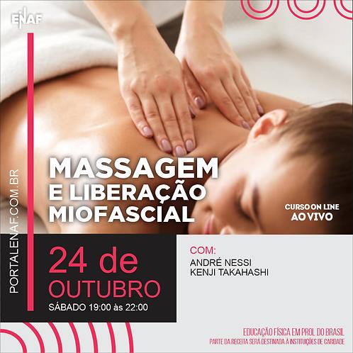 MASSAGEM E LIBERAÇÃO MIOFASCIAL - 24/10 - CURSO ONLINE