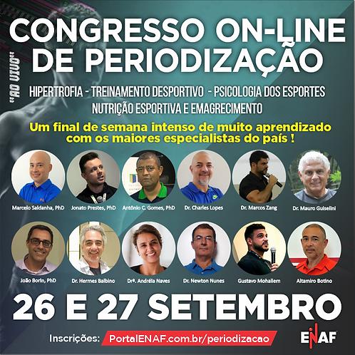 CONGRESSO ON-LINE DE PERIODIZAÇÃO - 26 e 27/09 (CURSO AO VIVO)