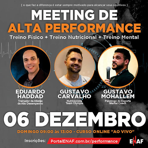 MEETING DE ALTA PERFORMANCE - 06/12 - CURSO ONLINE