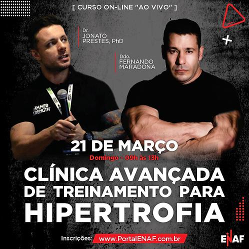 MÉTODOS AVANÇADOS PARA HIPERTROFIA 21/03 - ONLINE
