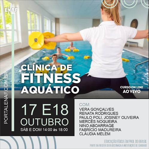 CLÍNICA DE FITNESS AQUÁTICO - 17 E 18/10 - CURSO ONLINE
