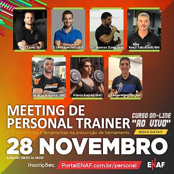 MEETING DE PERSONAL TRAINER - 28/11 (CURSO AO VIVO)