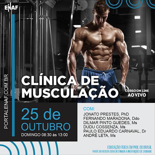 CLÍNICA DE MUSCULAÇÃO - 25/10 - CURSO ONLINE