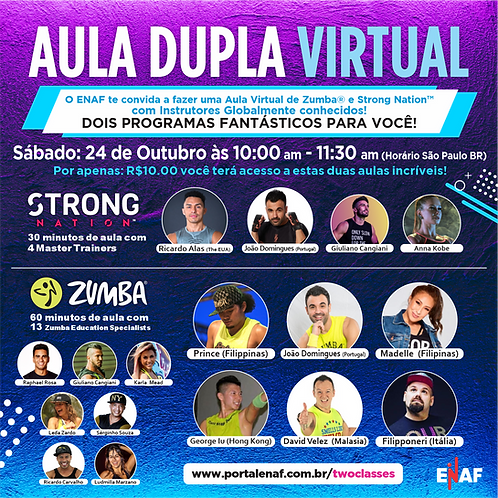 TWO VIRTUAL CLASSES: STRONG Nation™  + Zumba®