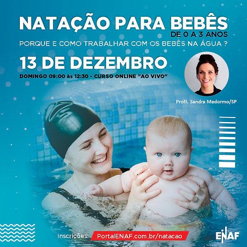 NATAÇÃO PARA BEBÊS 0 A 3 ANOS - 13/12 - CURSO ONLINE