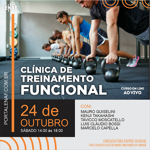 CLÍNICA DE TREINAMENTO FUNCIONAL - 24/10 - CURSO ONLINE