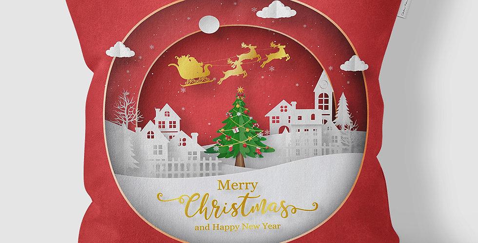 Capa de Almofada Merry Christmas