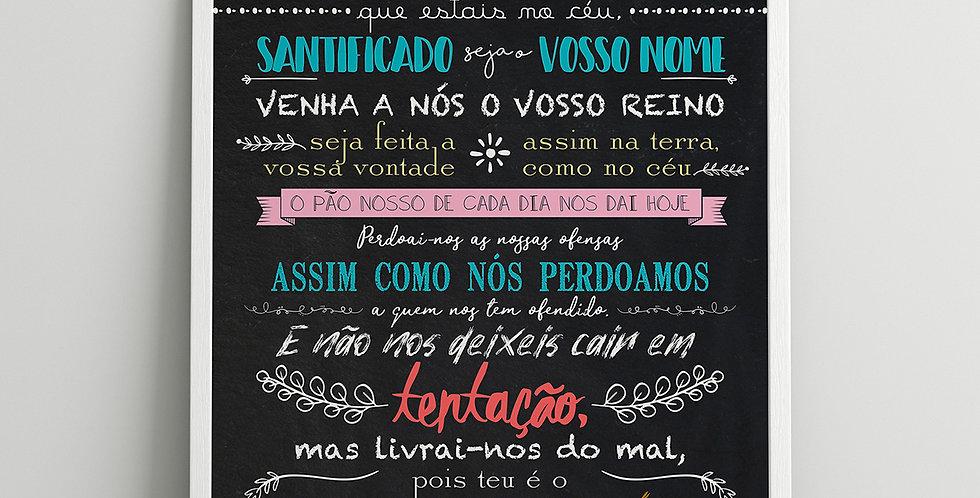 Quadro Pai Nosso (Chalk)