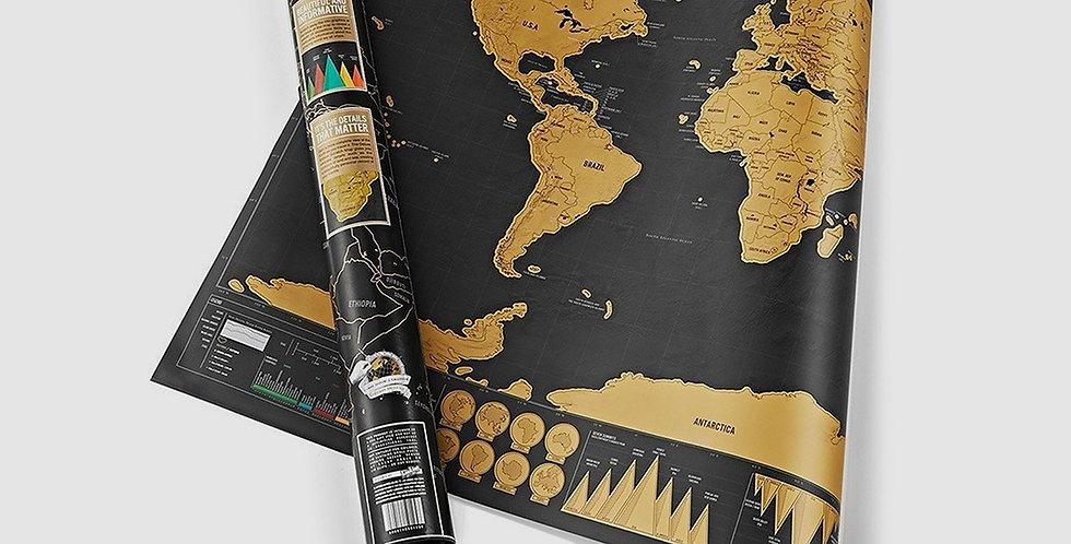 Mapa Mundi para Raspar - Deluxe