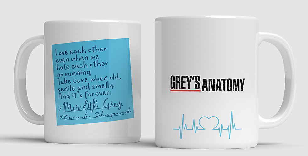 Caneca Grey's Anatomy - Post It