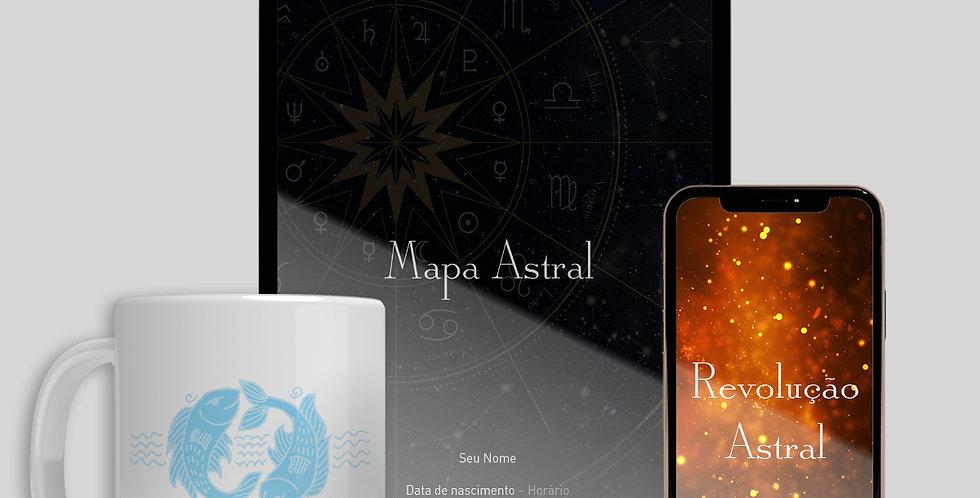 Mapa Astral + Revolução Solar + Caneca do Zodíaco