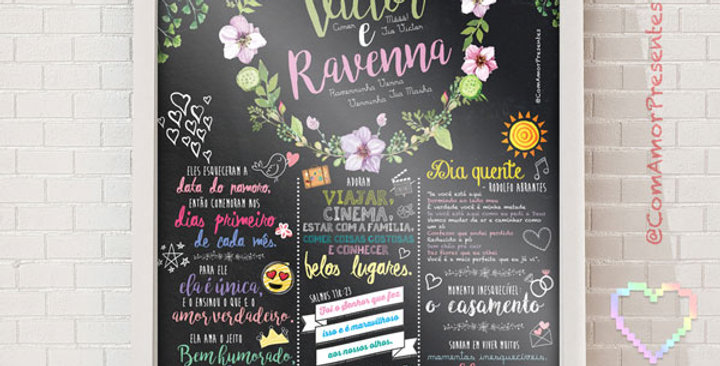 Chalkboard Padrão (30x40cm)