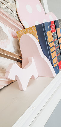 Pink Doggy Bookends