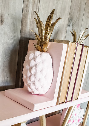 Pineapple Pink and Gold Bookends