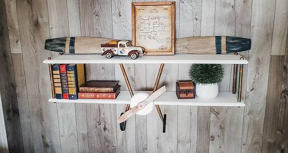 XXL White Wash Airplane Shelf