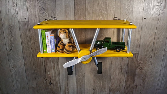 Medium Yellow Airplane Shelf