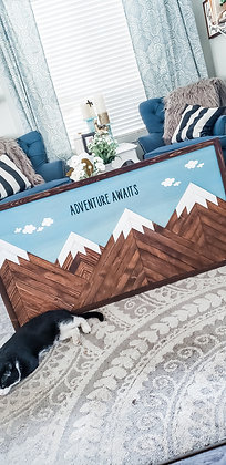 "4ft Moutain Scape ""Adventure Awaits"" Sign"