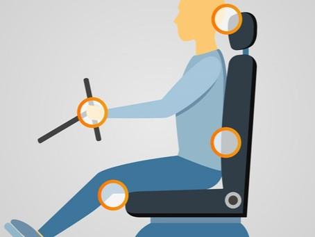 Regola il sedile della tua auto correttamente per l'ergonomia e la tua sicurezza!