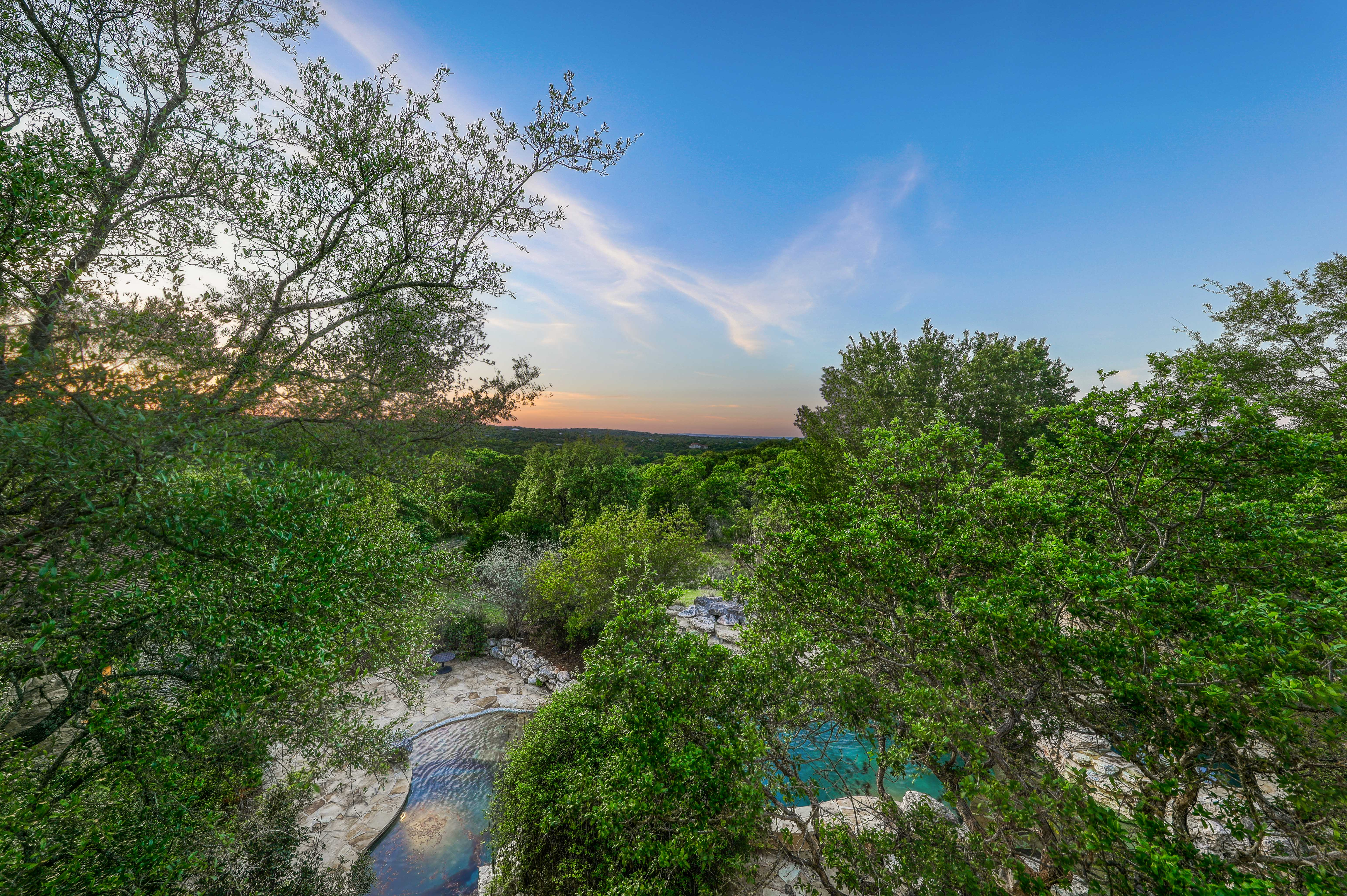 Twilight View from Balcony
