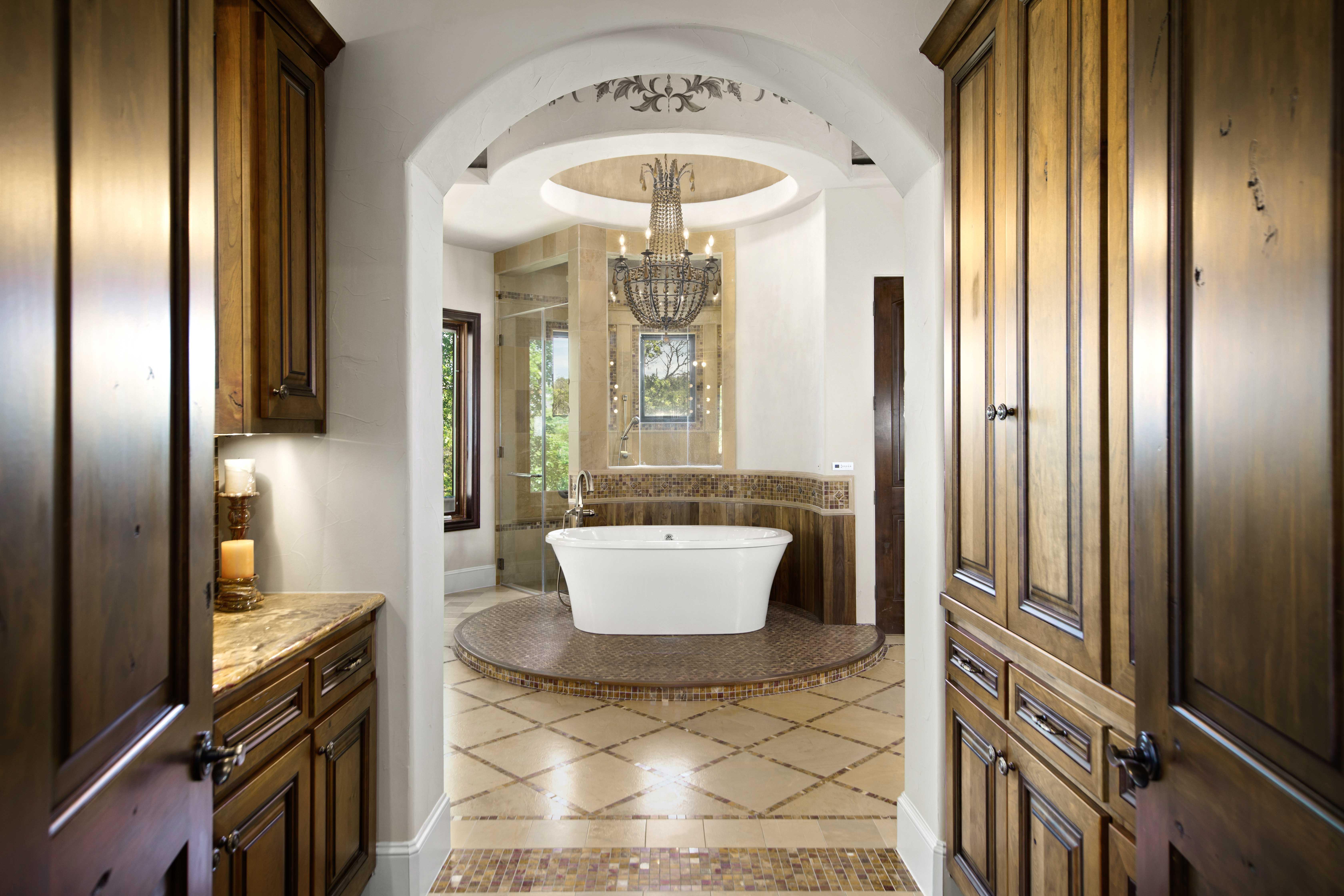 master bath view of tub