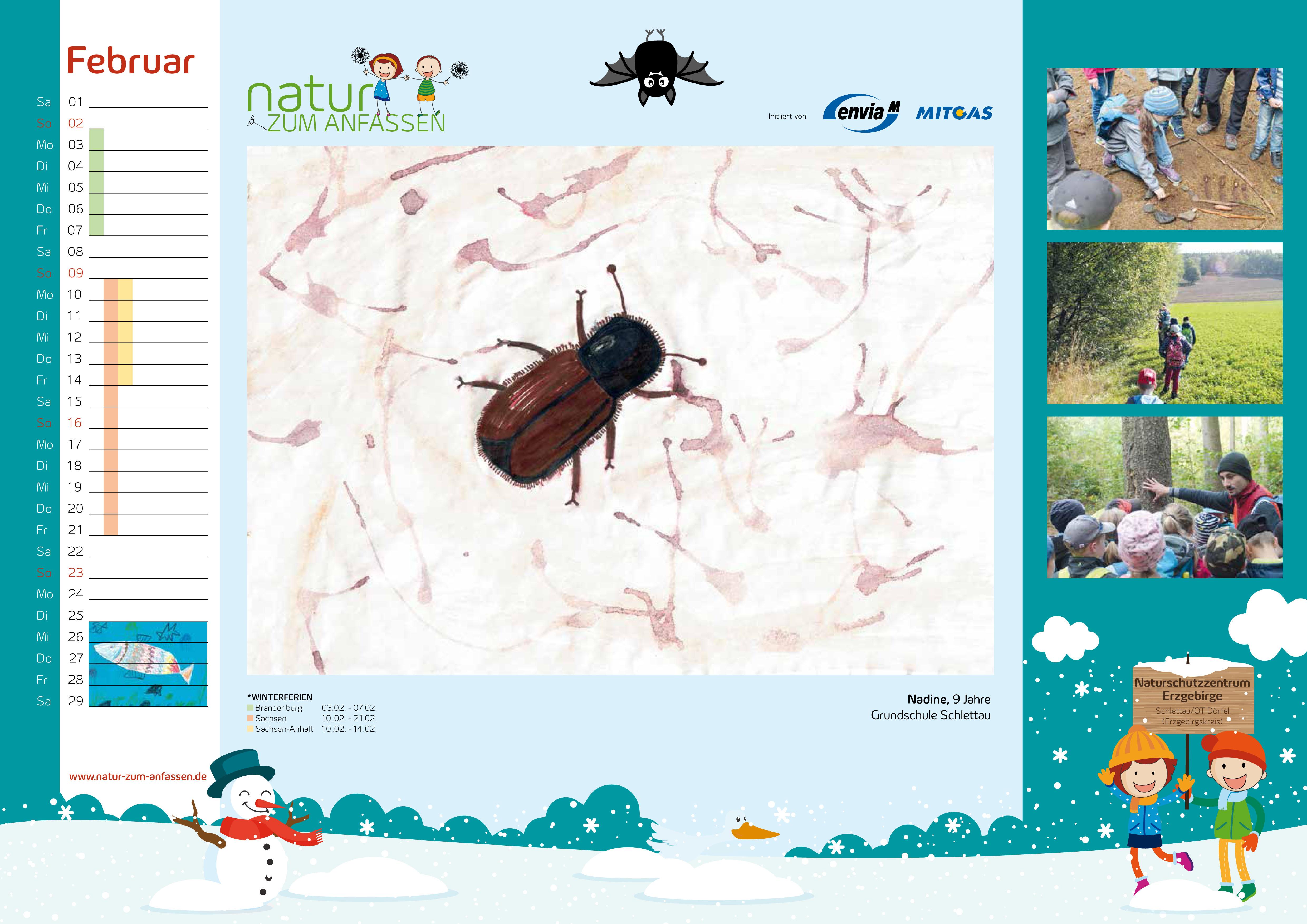 Natur zum Anfassen Kalender 2020