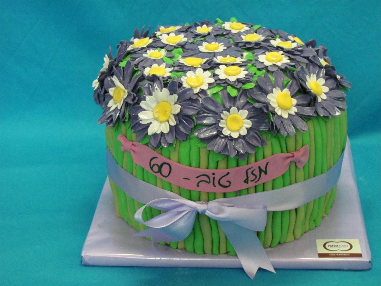 עוגת זר פרחים