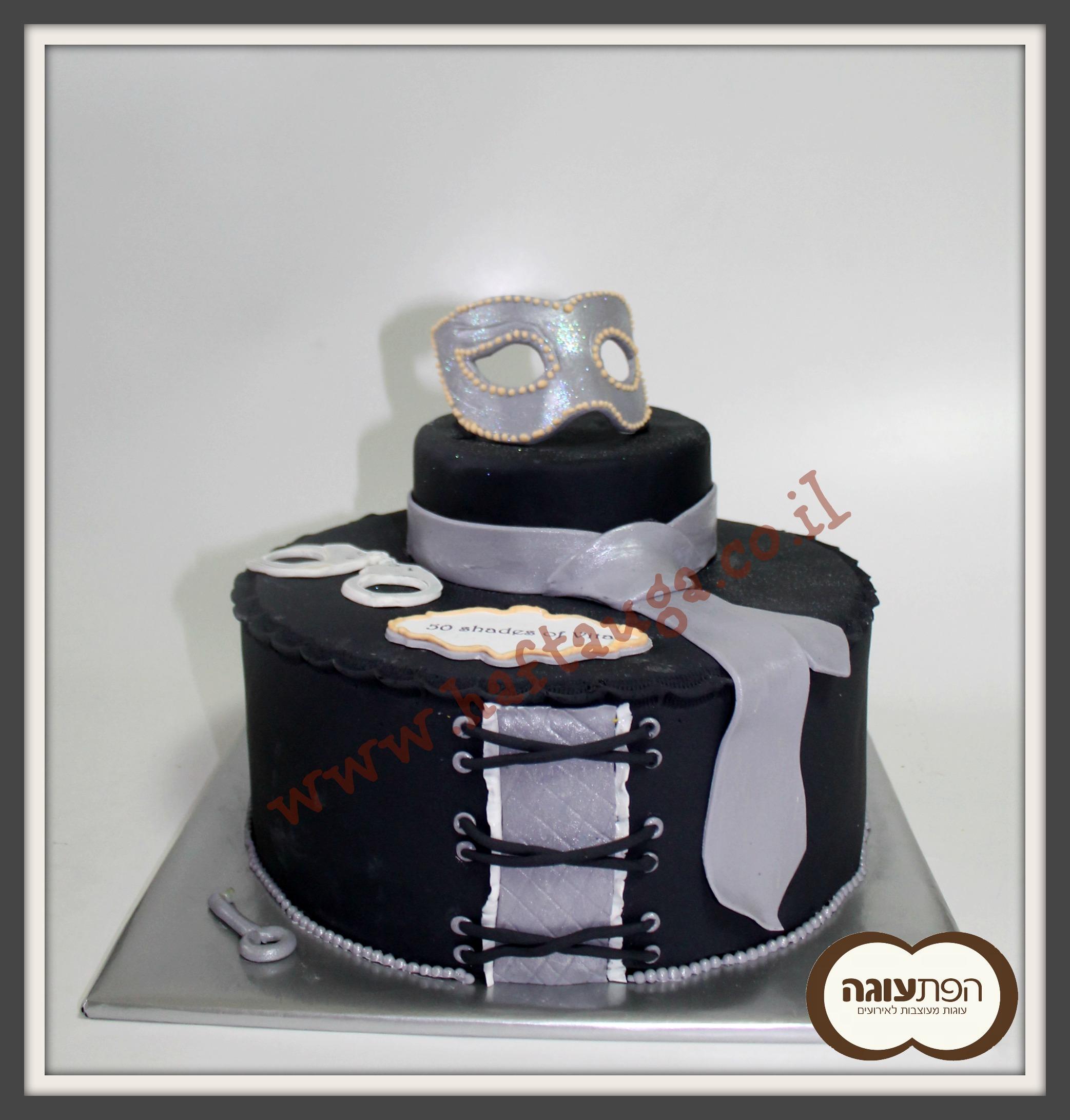 50 shades of gray cake