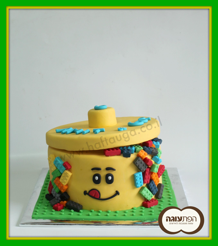 עוגת קופסאת לגו