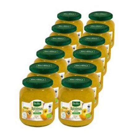 BioBio Apfelmus 360 g, 12er Pack