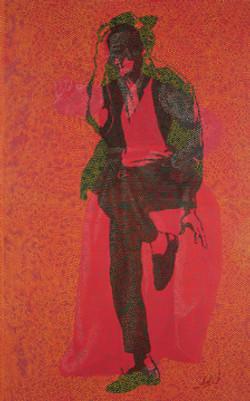 Gilwoo Lee New York State of Mind 순지에인두,채색,장지에채색배접코팅 190X120cm 2009