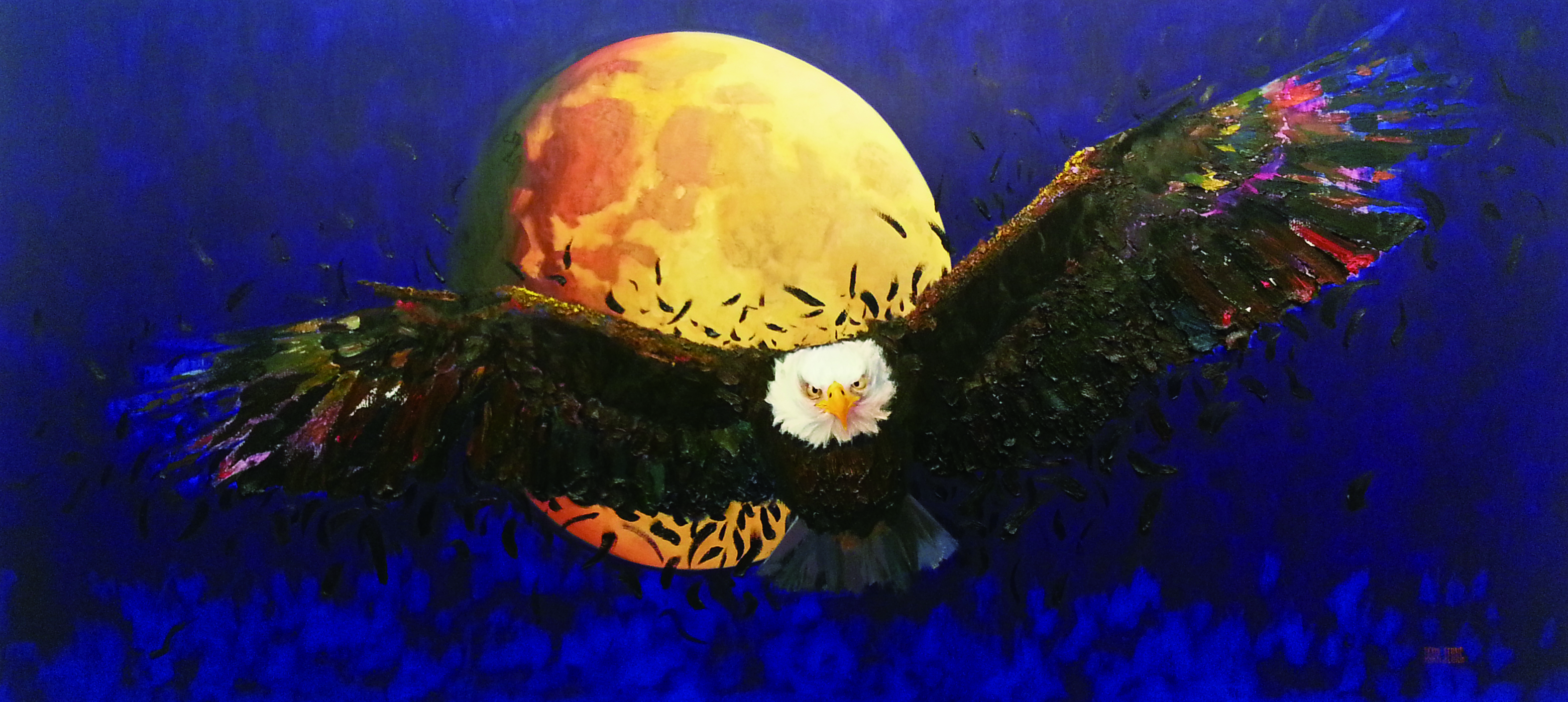 독수리 날개치며.. 333.3x150cm Oil on canvas..