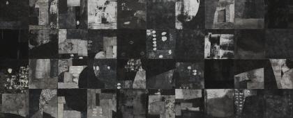 내적시선, 장지에 채색, 244 x 100cm