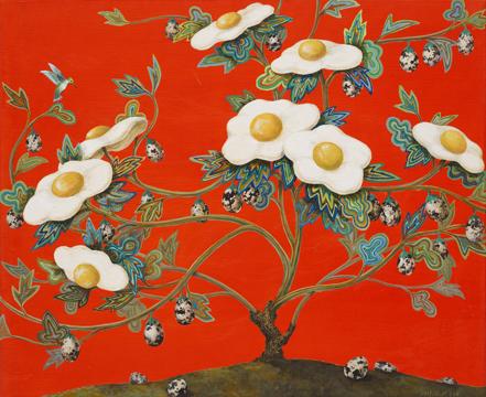 벌새와 Egg Flower 66x54.2011