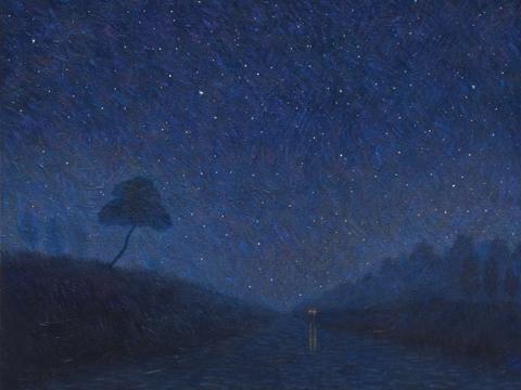 별이 빛나는 밤에 72.7 x 60.6 cm Acrylic on canvas 2011