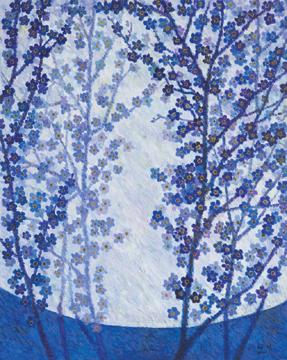 이화에 월백하고 65.1 x 53.0 cm Acrylic on canvas 2011