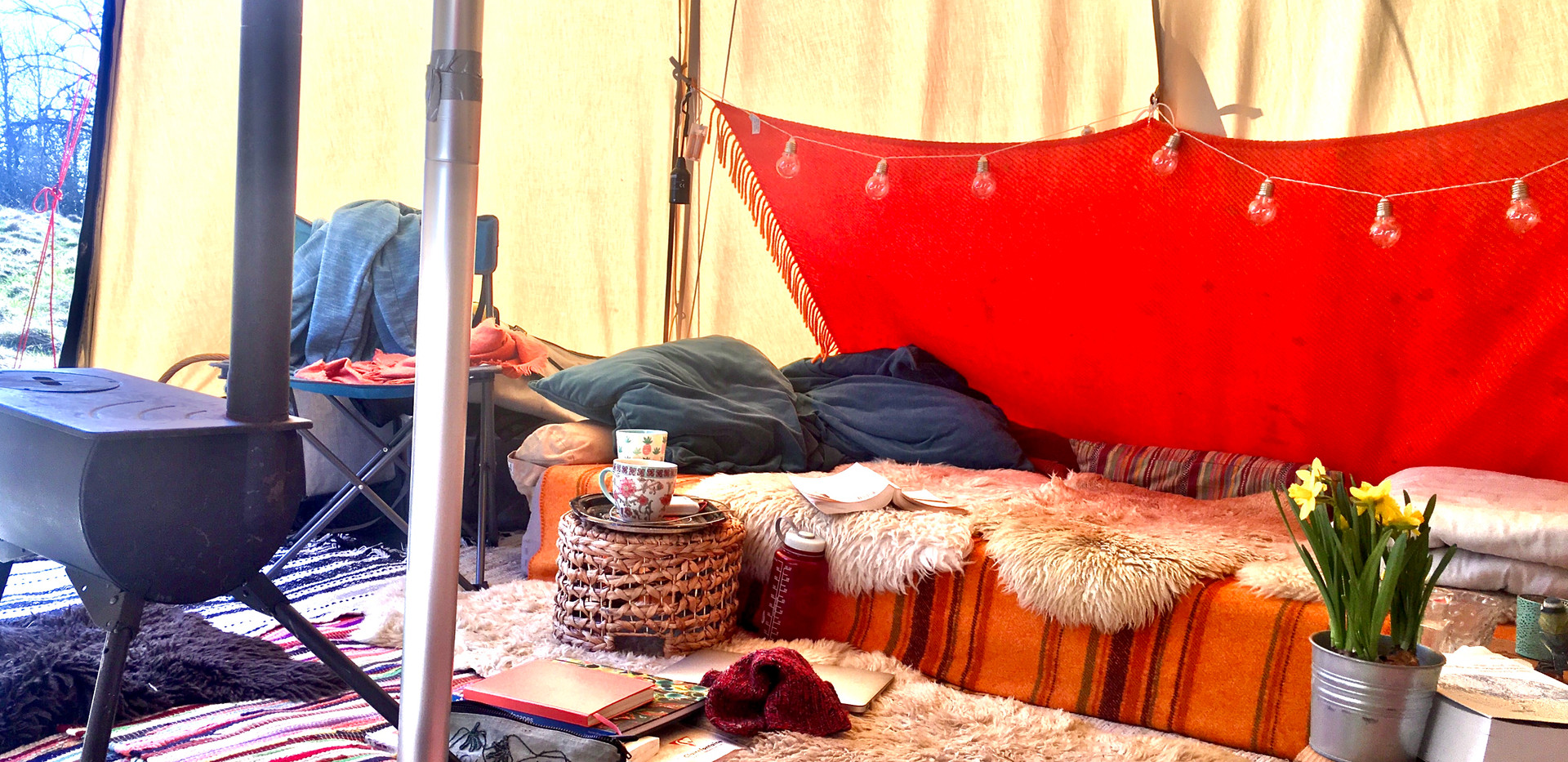 View from inside the tipi