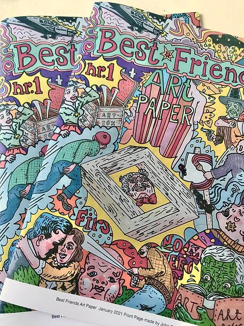 Best Friends Art Paper