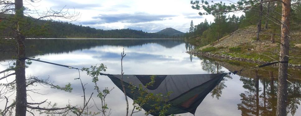 sleeping out Femundsmarka Norway