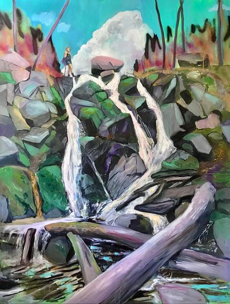 """The waterfall at Döndalen"""